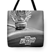 1928 Chevrolet Stake Bed Pickup Hood Ornament Tote Bag by Jill Reger