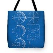 1929 Basketball Patent Artwork - Blueprint Tote Bag
