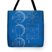 1929 Basketball Patent Artwork - Blueprint Tote Bag by Nikki Marie Smith