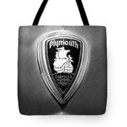 1930 Chrysler Plymouth Emblem Tote Bag
