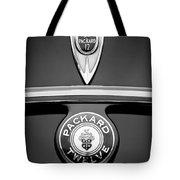 1937 Packard 1508 Twelve Convertible Sedan Emblems Tote Bag