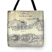 1939 Motorcycle Patent Drawing Tote Bag