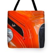 1948 Anglia 2-door Sedan Grille Emblem Tote Bag