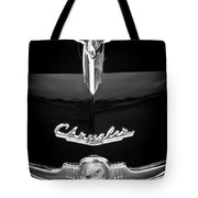 1949 Chrysler Town And Country Convertible Hood Ornament And Emblems Tote Bag