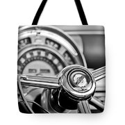 1949 Chrysler Town And Country Convertible Steering Wheel Emblem Tote Bag