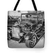 1949 Ford Pick Up Truck Bw Tote Bag