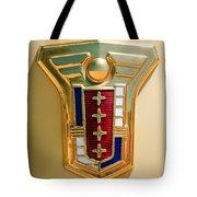 1949 Mercury Station Wagon Emblem Tote Bag