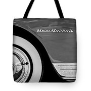 1950 Chrysler New Yorker Coupe Wheel Emblem Tote Bag