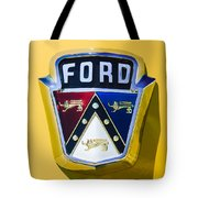 1950 Ford Custom Deluxe Station Wagon Emblem Tote Bag