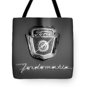 1950's Ford F-100 Fordomatic Pickup Truck Hood Emblems Tote Bag