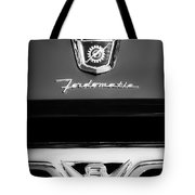 1950's Ford F-100 Pickup Truck Grille Emblems Tote Bag