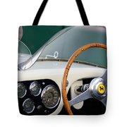 1953 Ferrari 340 Mm Lemans  Spyder Steering Wheel Emblem Tote Bag
