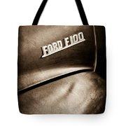 1953 Ford F-100 Pickup Truck Emblem Tote Bag