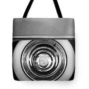 1954 Cadillac Coupe Deville Wheel Emblem Tote Bag