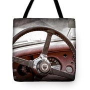 1954 Jaguar Xk120 Roadster Steering Wheel Emblem Tote Bag