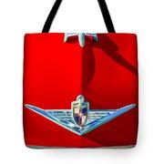1954 Lincoln Capri Hood Ornament Tote Bag