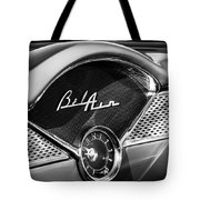 1955 Chevrolet Belair Dashboard Emblem Clock Tote Bag
