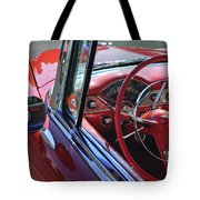 1955 Chevrolet Belair Steering Wheel Tote Bag