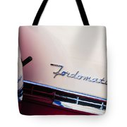 1955 Ford Crown Victoria Fordomatic Emblem Tote Bag
