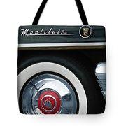 1955 Mercury Montclair Convertible Wheel Emblem Tote Bag