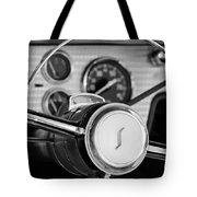 1955 Studebaker President Steering Wheel Emblem Tote Bag by Jill Reger