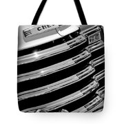 1956 Chevrolet 3100 Pickup Truck Grille Emblem Tote Bag by Jill Reger