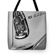1956 Chevrolet Belair Taillight Emblem Tote Bag