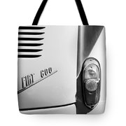1956 Fiat 600 Taillight Emblem Tote Bag