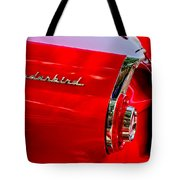 1956 Ford Thunderbird Taillight Emblem Tote Bag