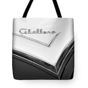 1957 Buick Custom Station Wagon Caballera Emblem Tote Bag by Jill Reger
