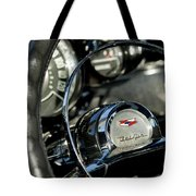 1957 Chevrolet Belair Steering Wheel Tote Bag