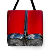 1958 Chevrolet Corvette Headlights Tote Bag