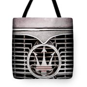 1958 Maserati Hood - Grille Emblem Tote Bag