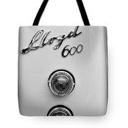 1960 Lloyd 600 Taillight Emblem Tote Bag