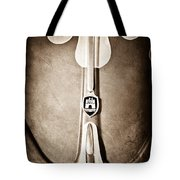 1960 Volkswagen Vw Hood Emblem Tote Bag by Jill Reger