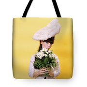 1960s Glamour Woman In White Turn Tote Bag