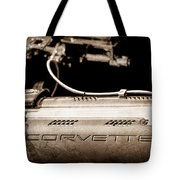 1961 Chevrolet Corvette Engine Tote Bag