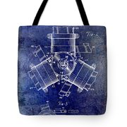 1961 Propeller Patent Drawing Tote Bag