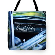 1965 Shelby Prototype Ford Mustang Carroll Shelby Signature Tote Bag