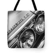 1967 Chevrolet Chevelle Malibu Head Light Emblem Tote Bag
