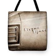 1967 Chevrolet Chevelle Super Sport Taillight Emblem Tote Bag