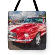 1967 Ford Shelby Mustang Gt500 Painted  Tote Bag