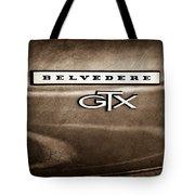 1967 Plymouth Gtx Belvedere Emblem Tote Bag