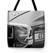 1969 Shelby Gt500 Convertible 428 Cobra Jet Grille Emblem Tote Bag by Jill Reger