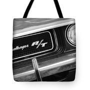 1970 Dodge Challenger Rt Convertible Grille Emblem Tote Bag