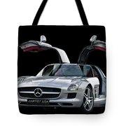 Mercedes Benz S L S  Gull-wing Tote Bag
