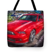 2013 Ford Mustang Gt Cs Painted  Tote Bag