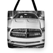 2014 Dodge Charger Rt Painted Bw Tote Bag