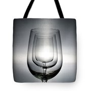 3 Wine Glasses Tote Bag