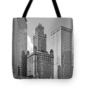 35 East Wacker Chicago - Jewelers Building Tote Bag by Christine Till